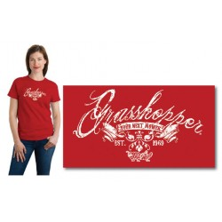 Ladies Distressed Grasshopper T-shirt