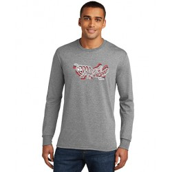 Logo Tri-Color Blended Long Sleeve T-Shirt