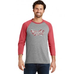 Logo Tri-Color Blended 3/4-Sleeve Raglan T-Shirt