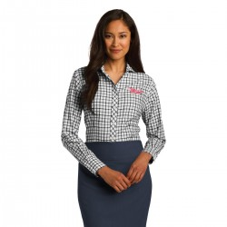 Ladies Tricolor Check Slim...